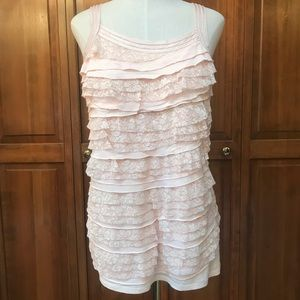 Express | Flowy Tank Top Lace | Small